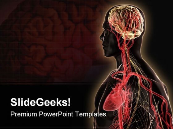 Brain Heart Medical Powerpoint Template