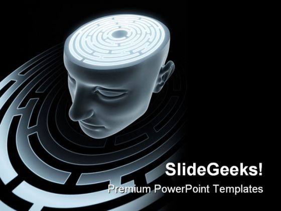 Brain People Powerpoint Template 0910
