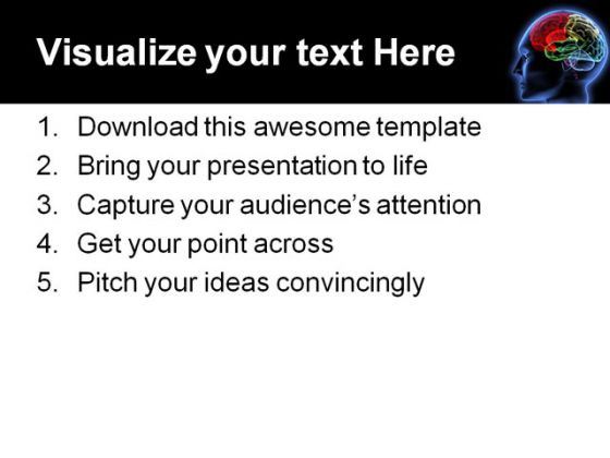 Brain Science PowerPoint Template 0610