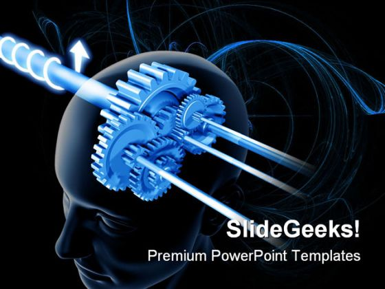 Brain Think Science PowerPoint Template 0610