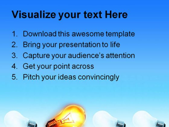 Bright Bulb Abstract PowerPoint Template 1110