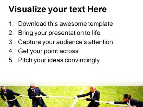 Business Competition People PowerPoint Background And Template 1210