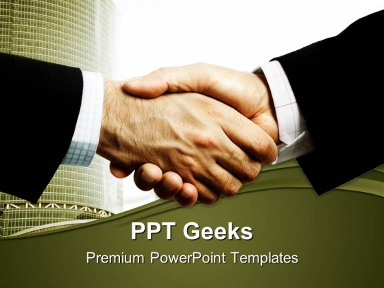 Business Handshake PowerPoint Templates And PowerPoint Backgrounds 0411