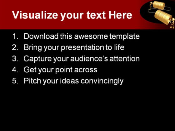 Can You Hear Me People PowerPoint Template 0810