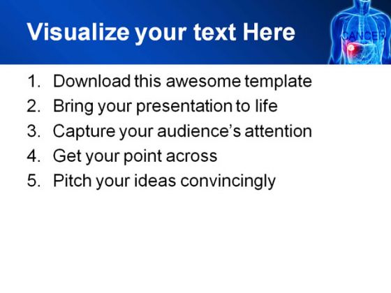 Cancer Medical PowerPoint Template 0610