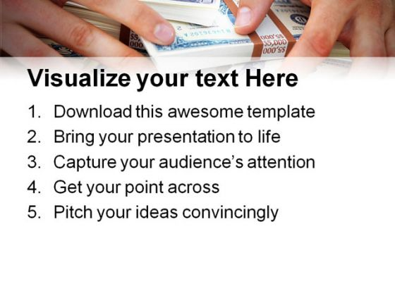 Cash Money PowerPoint Template 0610
