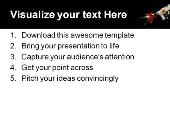 Celebrate Business PowerPoint Template 0610