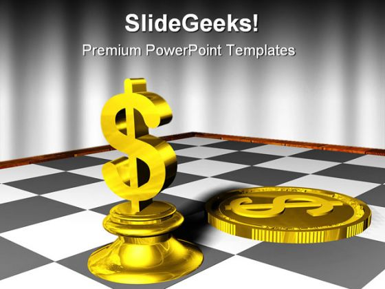 chess and dollar game powerpoint template 0910, Modern powerpoint