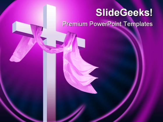 Christianity Religion PowerPoint Template 0610