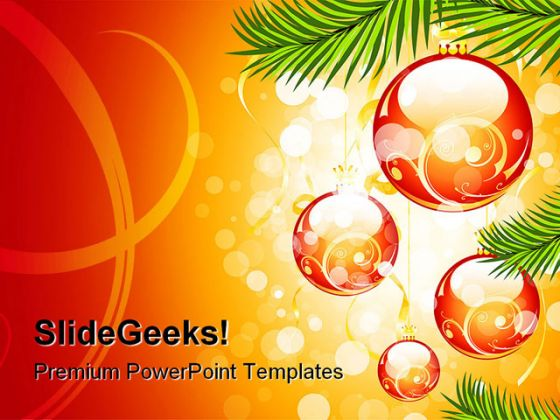 Christmas Abstract PowerPoint Background And Template 1210