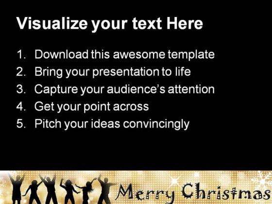 Christmas Party Celebration PowerPoint Template 1010