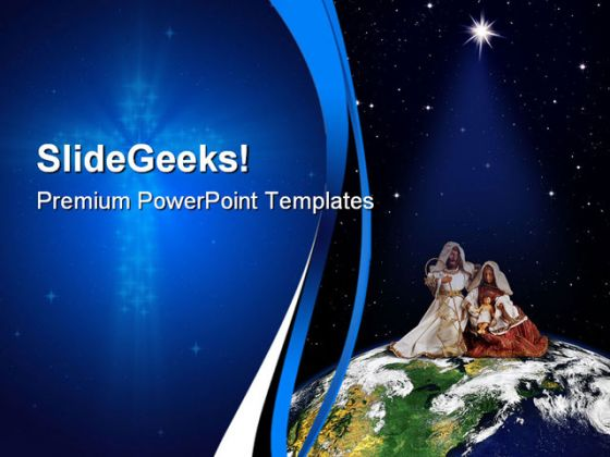 Christmas World Religion PowerPoint Template 1010