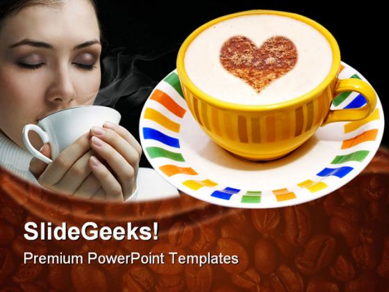 Coffee Cup Food PowerPoint Backgrounds And Templates 1210