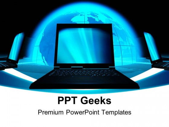 Communication Concept Computer Powerpoint Templates And