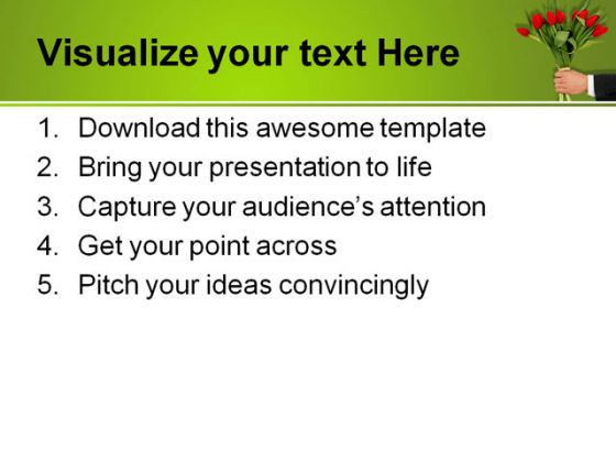 Congrats Business PowerPoint Template 0610