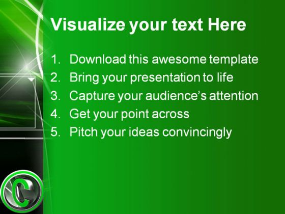 Copy Right Business PowerPoint Template 1110