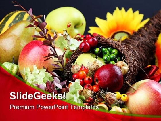 Cornucopia Food Powerpoint Template