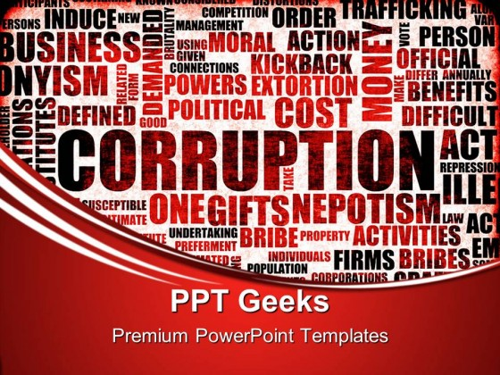 Corruption Business PowerPoint Templates And PowerPoint Backgrounds 0411