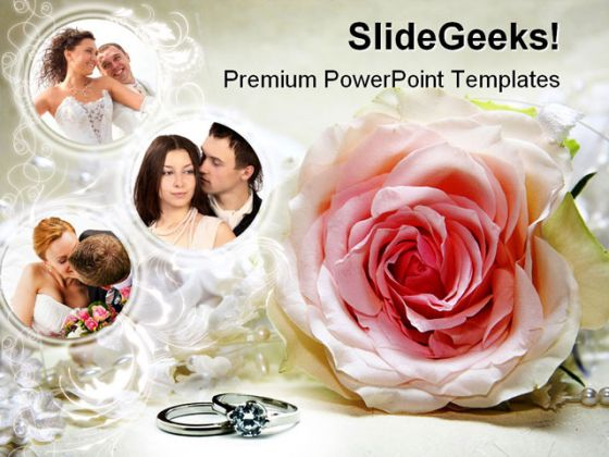 Couples Wedding Powerpoint Template 0610
