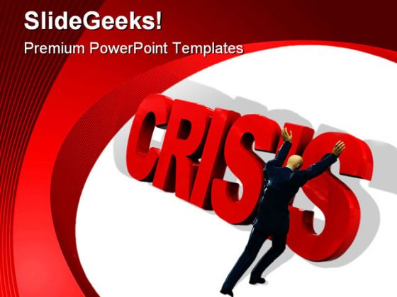 Crisis01 Business PowerPoint Template 0810