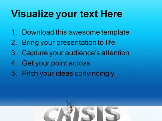 Crisis Business PowerPoint Backgrounds And Templates 1210