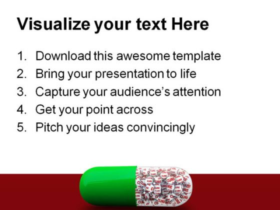 Cure Capsule Medical PowerPoint Backgrounds And Templates 1210