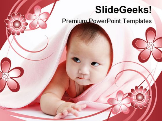 Cute Baby Children PowerPoint Backgrounds And Templates 1210