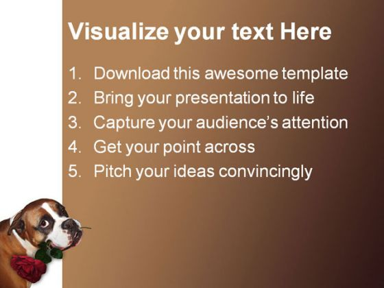 Cute Dog Animals PowerPoint Backgrounds And Templates 1210