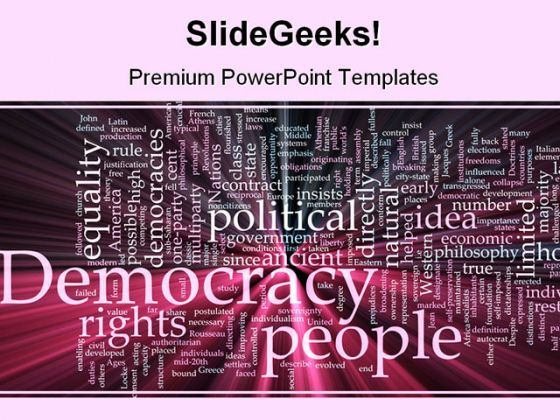 Democracy People Government PowerPoint Backgrounds And Templates 1210
