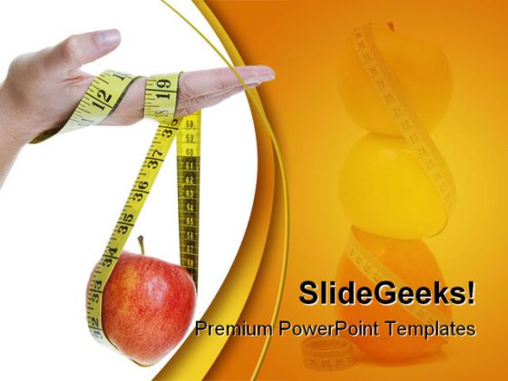 diet food health powerpoint template 0910, Powerpoint templates