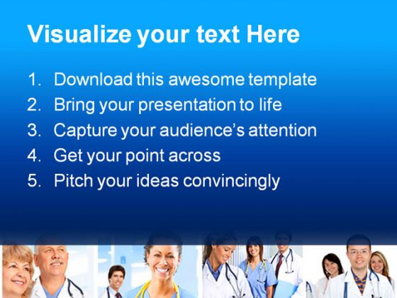 Doctor Collage Medical PowerPoint Template 1110