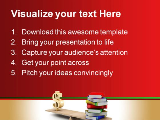 Dollar Books Education PowerPoint Template 0610
