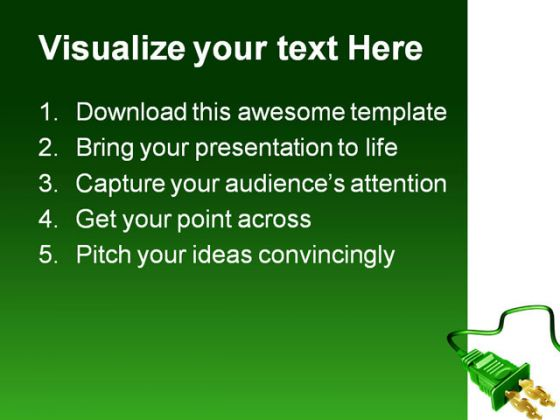 Dollar Plug Money PowerPoint Template 1110