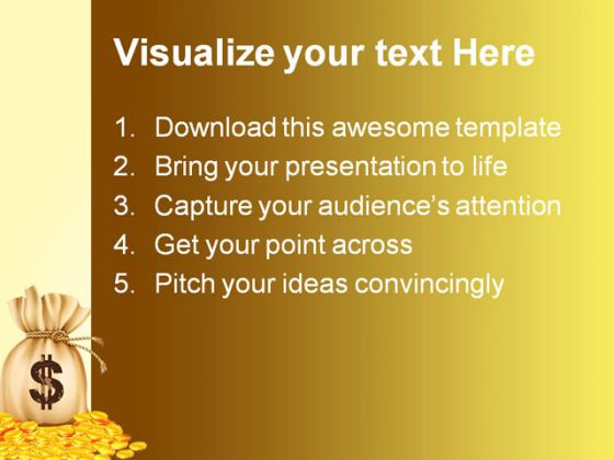 sign money powerpoint template 0910, Presentation templates
