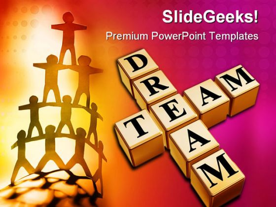 Dream Team Business PowerPoint Background And Template 1210