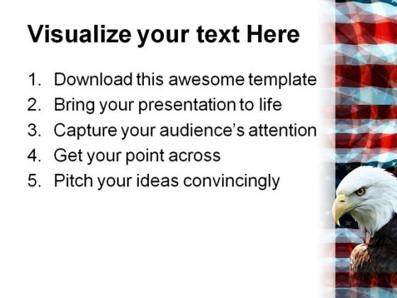 Eagle01 Animal PowerPoint Template 1110
