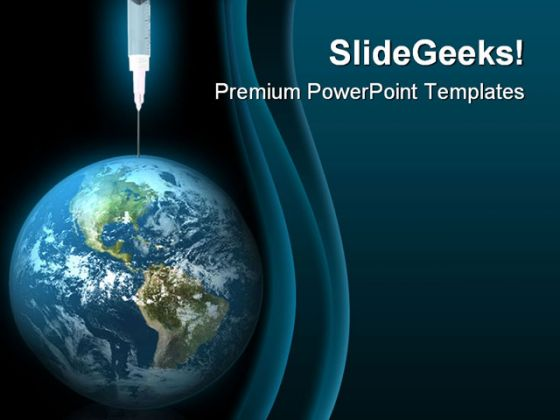 earth drug globe powerpoint template 0610, Powerpoint templates
