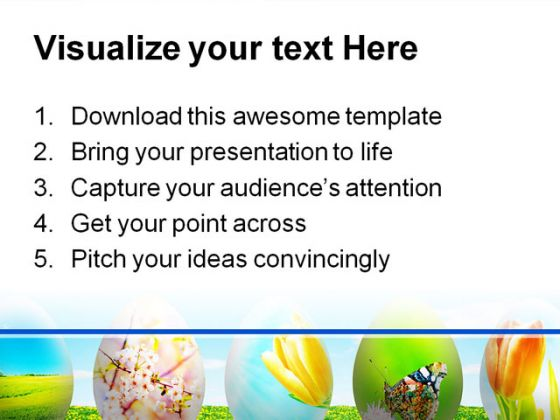 Easter Eggs Nature PowerPoint Template 0610