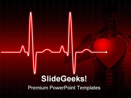 Ecg medical powerpoint template 0610 toneelgroepblik Images