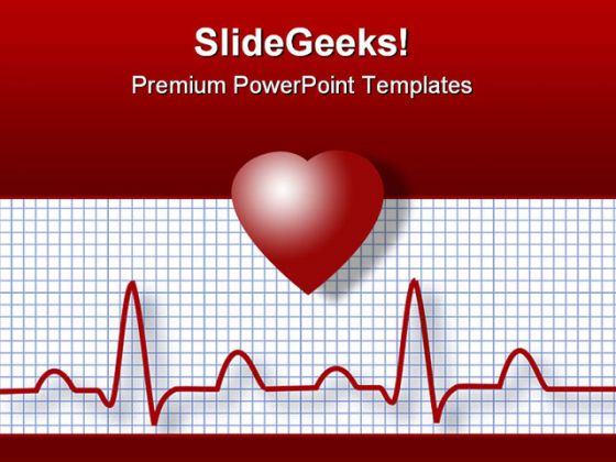ecg science powerpoint template 0610, Presentation templates
