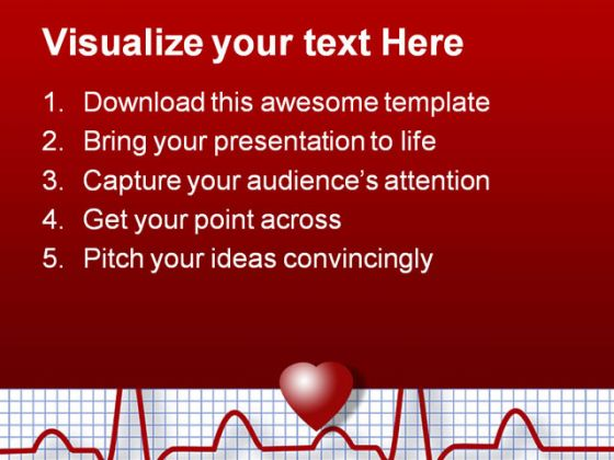 Ecg Science PowerPoint Template 0610