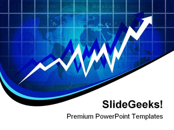 Economy rising business powerpoint template 0910 toneelgroepblik Images