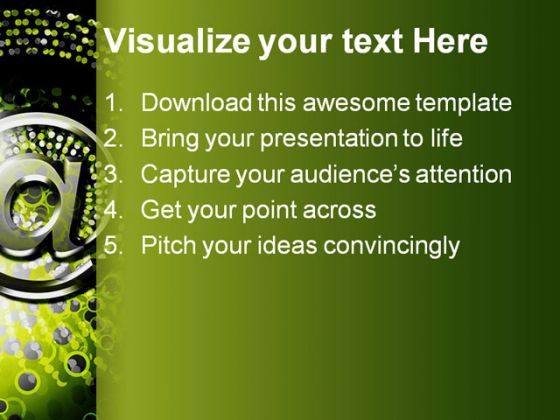 Email Spiral Background PowerPoint Template 0910
