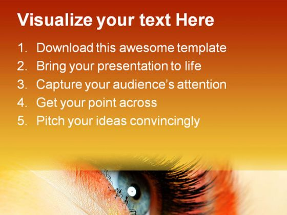 Eye Fashion Beauty PowerPoint Template 0910