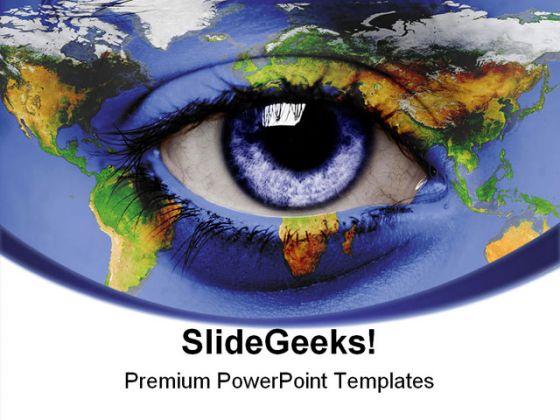 Eye world earth powerpoint template 0910 toneelgroepblik Gallery