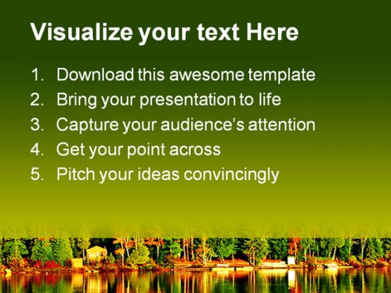 Fall Forest Nature PowerPoint Template 1110