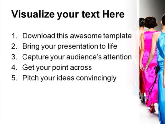 Fashion Show Beauty PowerPoint Template 1110