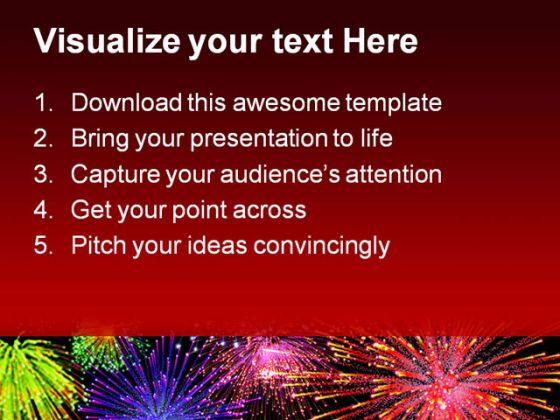 firework powerpoint template