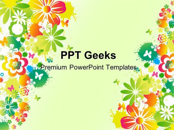 Floral Background Design PowerPoint Templates And PowerPoint Backgrounds 0411