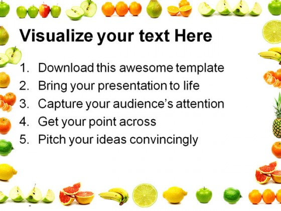 Fruit Border Food Powerpoint Templates And Powerpoint
